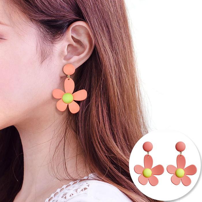 Korea sweet ins fluorescent color earrings JUL553