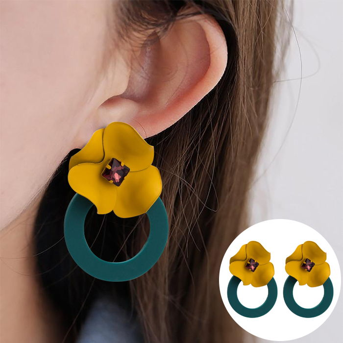 fashion retro earrings trend super fairy Korean JUL555