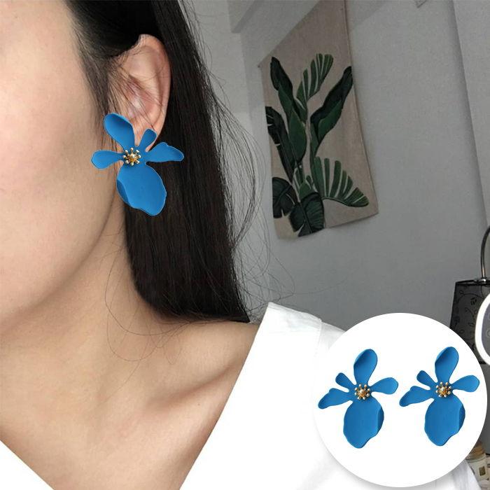 Korean version of daisy petals earrings JUL560