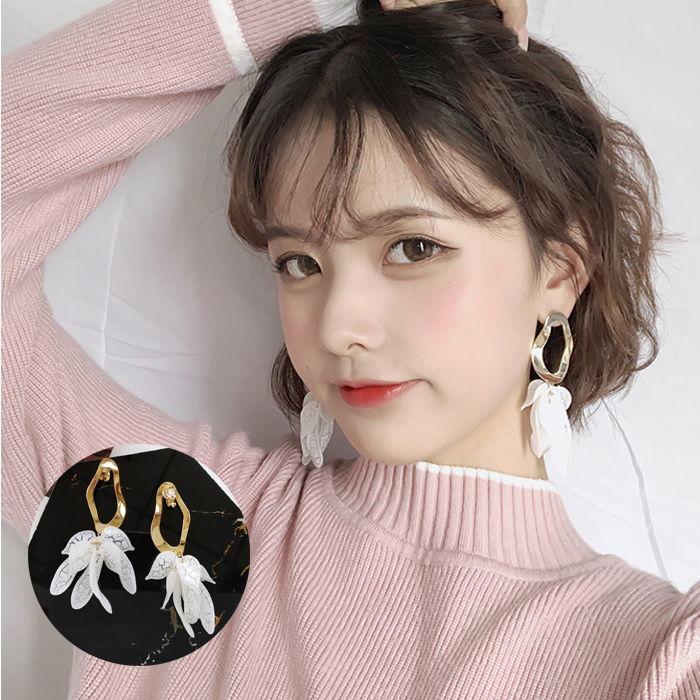 Japan and South Korea simple geometric shape earrings  wear retro  without hole ear clip  JUL603