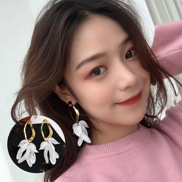 Japan and South Korea simple geometric shape earrings  wear retro  Earless JUL604