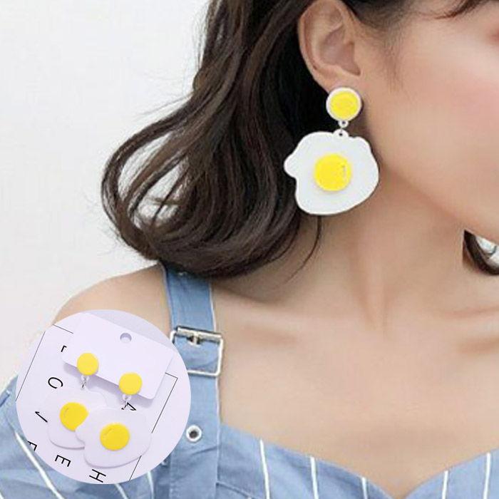 acrylic earrings egg JUL658