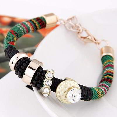 Bangle diamond decorated weave design T6C5DB
