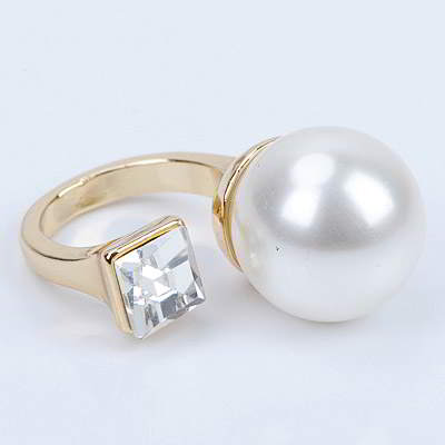 Cincin Korea pearl decorated simple design R8A6C7