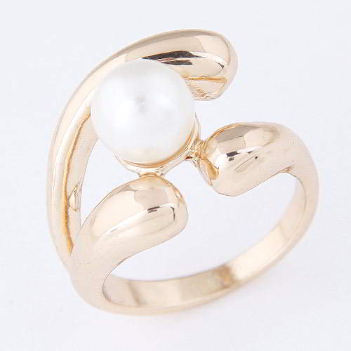 Cincin Korea pearl decorated simple design WP best seller rings T57FBE