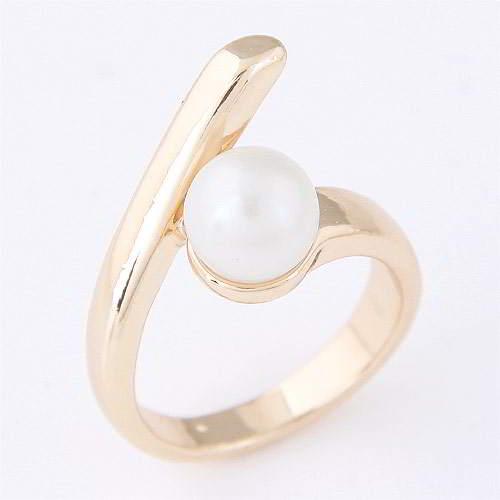 Cincin Korea pearl decorated simple design WP best seller rings T57FC8