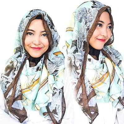 Syal & Scarf sailboat pattern simple design RAF5FE