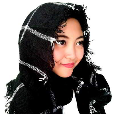 Syal & Scarf grid pattern simple  RA7885