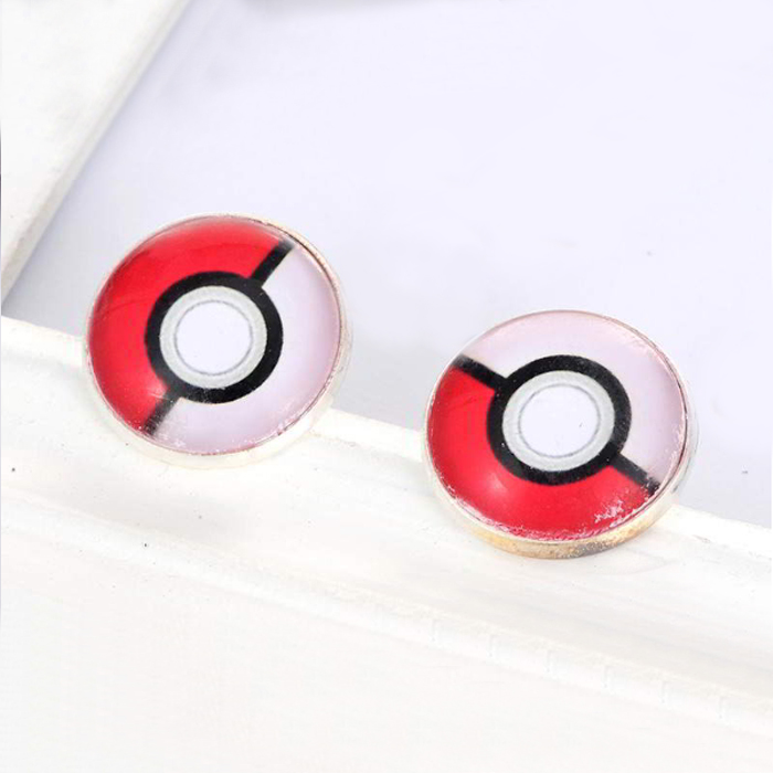 Anting Pokemon color matching round  earring RB5A8D