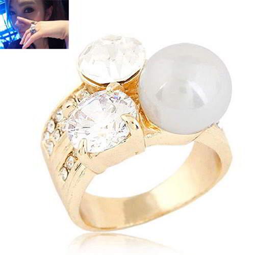 Cincin Korea Forever21 diamond pearl earring T5B8CF