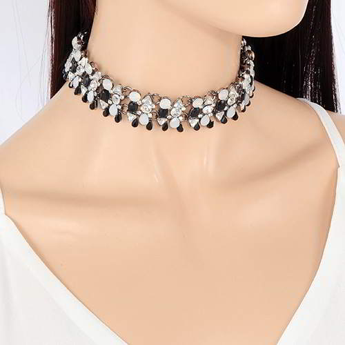 Choker diamond waterdrop
