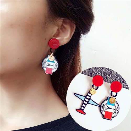 small asymmetrical earrings AB girls lovely earrings APR028