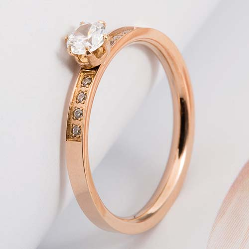 Cincin Korea Zircon Micro Diamond Ring  TITA11