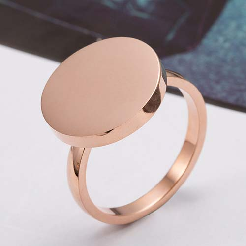 Cincin Korea Zircon Big Rose Gold Ring TITA16