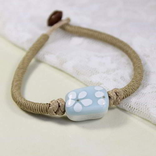 Gelang Fashion Etsy Bohemian ceramic bracelet h made BRE005