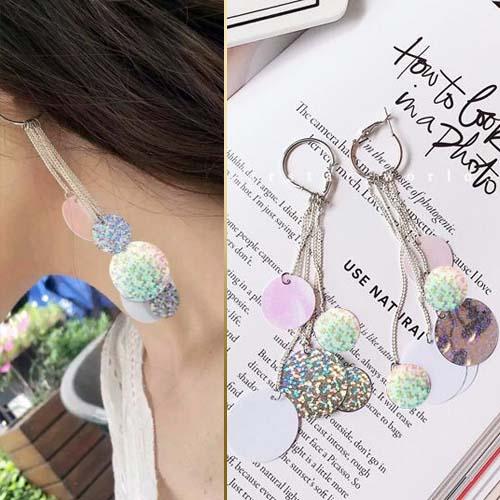 tassel color nightclubs earrings JUN006