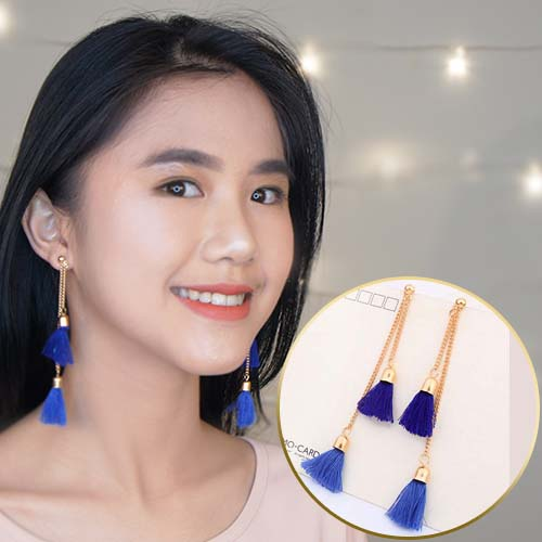 Double Tassel Chain earrings JUN033