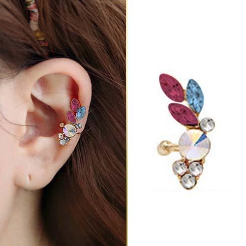 colorful crystal diamond stud stars earrings JUN057