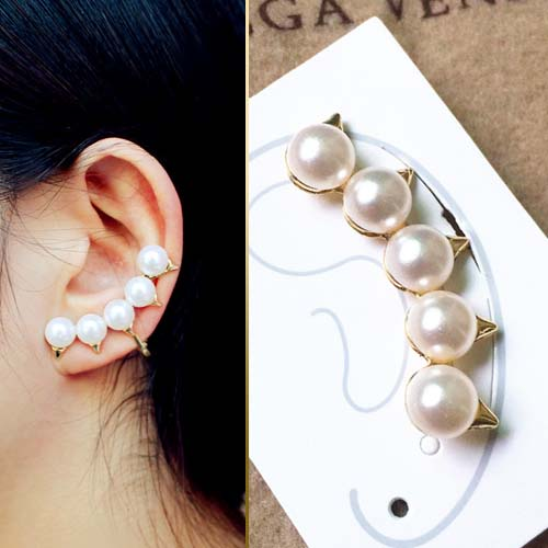 pearl arc earrings  JUN064