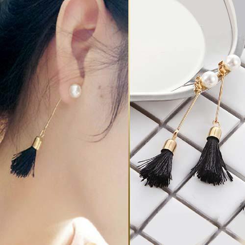Anting tassel pearl long earrings JUN107