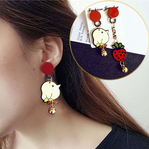 star lips aircraft earrings JUN123