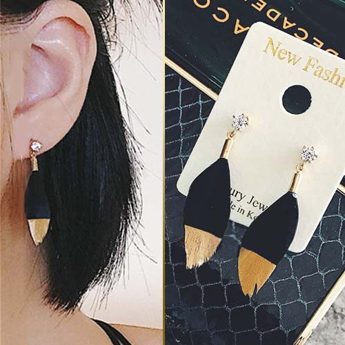 East Gate Feather Earrings JUN235