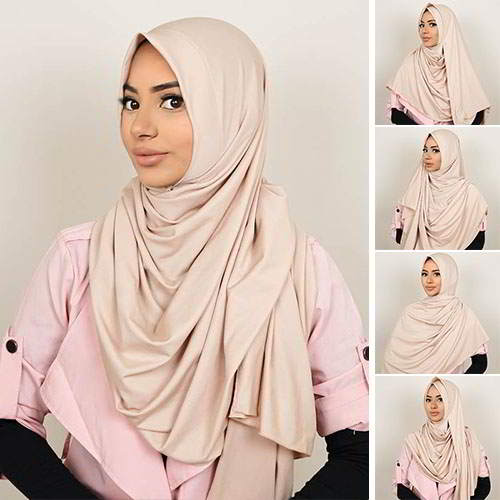 Pashmina Instant ALMEIRA 2 Face Double Loop 5 in 1 PSTN02