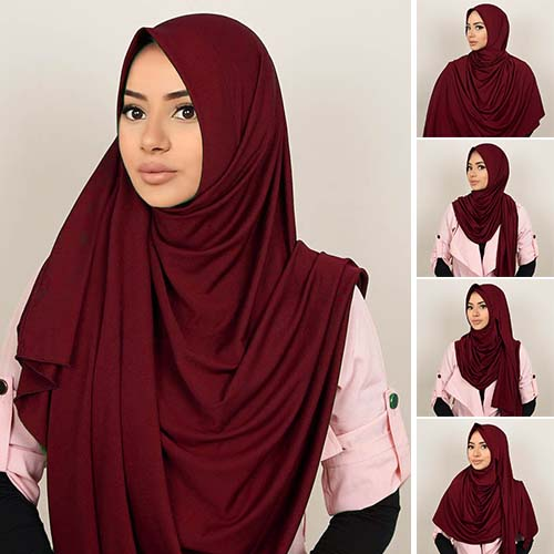 Pashmina Instant ALMEIRA 2 Face Double Loop 5 in 1 PSTN07