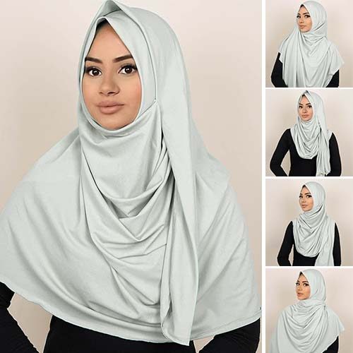 Pashmina Instant ALMEIRA 2 Face Double Loop 5 in 1 PSTN08