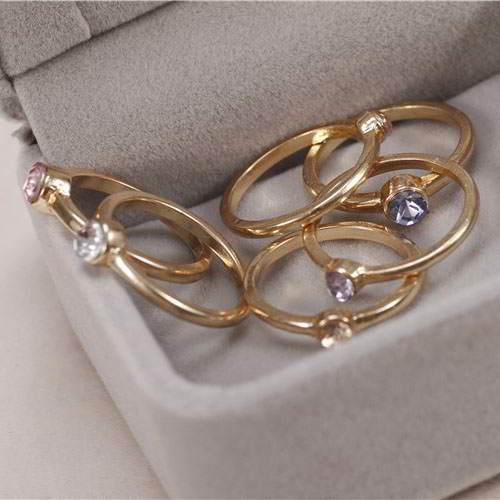 Cincin Korea South Korea Tandem jewelry mixed� R1SKT6