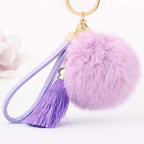 Gantungan Kunci PomPom Fur Ball Tassel Key  REA333