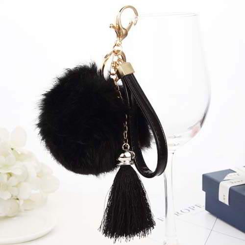 Gantungan Kunci PomPom Fur Ball Tassel Key  REA334