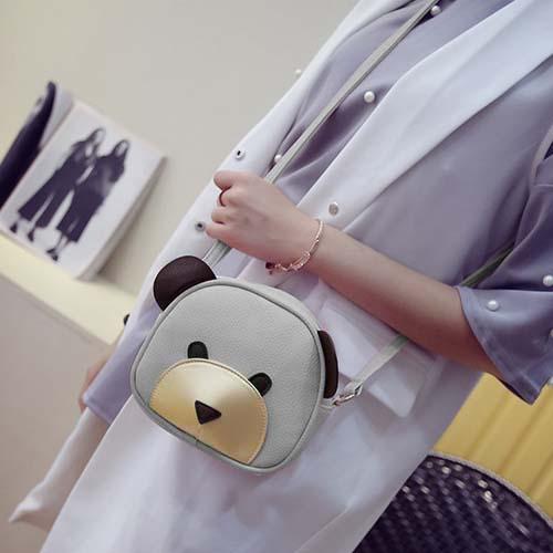 Tas Shoulder Fashion Bear Cartoon Handbags REA615