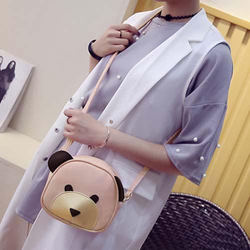 Tas Shoulder Fashion Bear Cartoon Handbags REA616