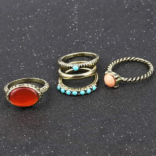 Cincin Korea Retro ruby 5pcs RSC01A