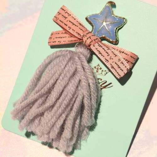 Bross Fashion JRK Kids tassel tassel brooch sweater pins S1M032