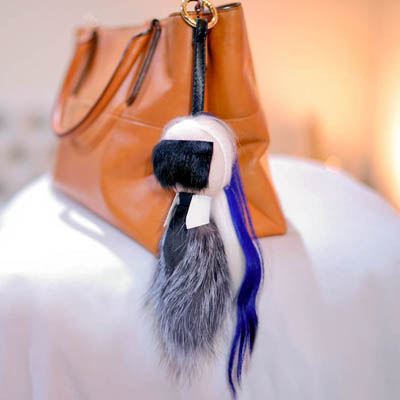 FENDI Karlito Real Mink Fur FENDFB