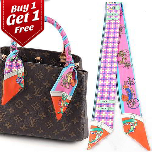 Syal & Scarf BUY 1 GET 1 FREE Twilly Scarf French Silk TWIL22