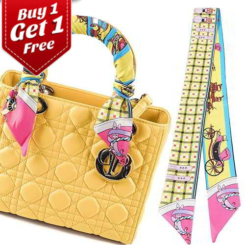 Syal & Scarf BUY 1 GET 1 FREE Twilly Scarf French Silk TWIL36