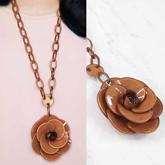 Rose Flower Long Necklaces