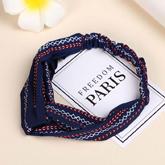 Wide-edged knot headband