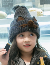 JRK Kids cartoon child Knitted cap 2-7 years old