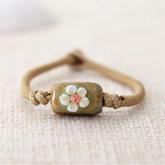 Etsy Bohemian flower ceramic bracelet