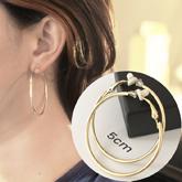 Minimalist round hoop ear clip 5cm