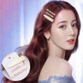 Side clip Korean metal pearl hairpin combination