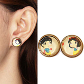 Princess snow white cartoon earrings