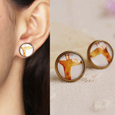 Giraffe cartoon earrings