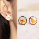 Chick cartoon earrings
