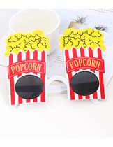 popcorn shape glasses