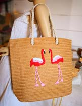 flamingo pattern bag